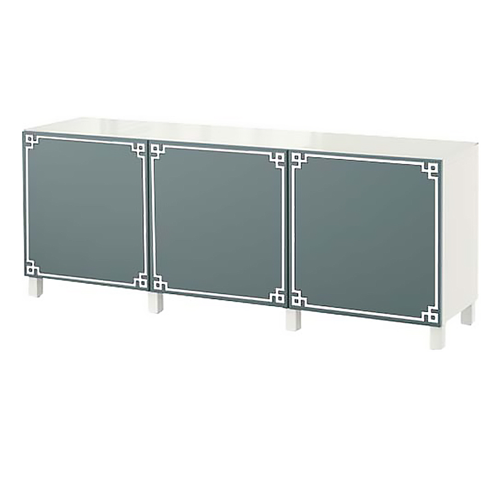 Le Meilleur O Verlays Pippa Single Kit For Ikea Besta 3 Door Console Unit Ce Mois Ci