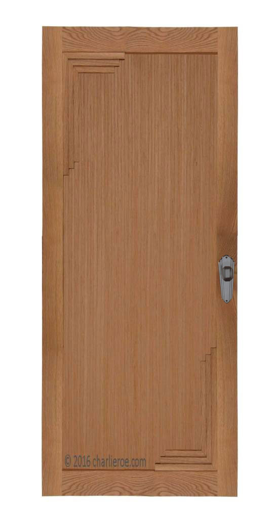 Le Meilleur New Bespoke Art Deco Oak Painted Interior Doors With Ce Mois Ci