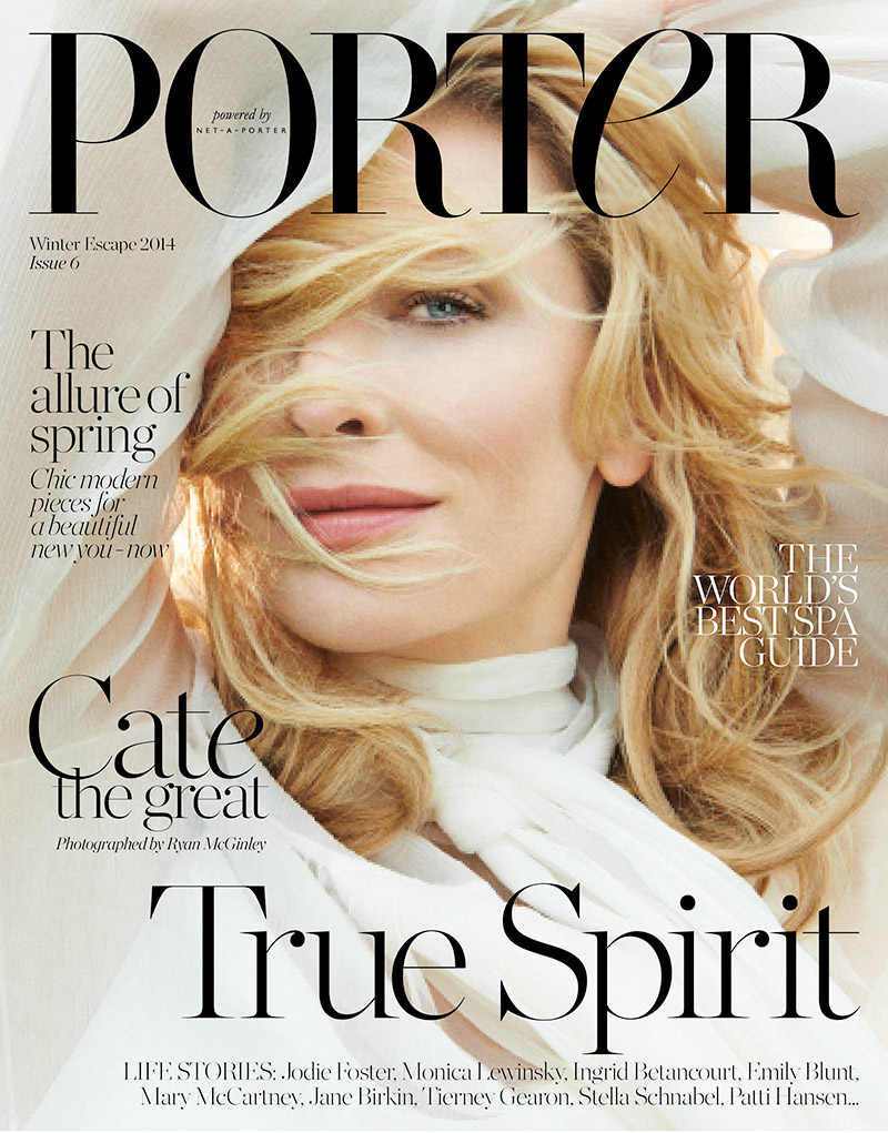 """Le Meilleur Cate Blanchett Covers Porter Magazine Says She's """"F Ing Ce Mois Ci"""