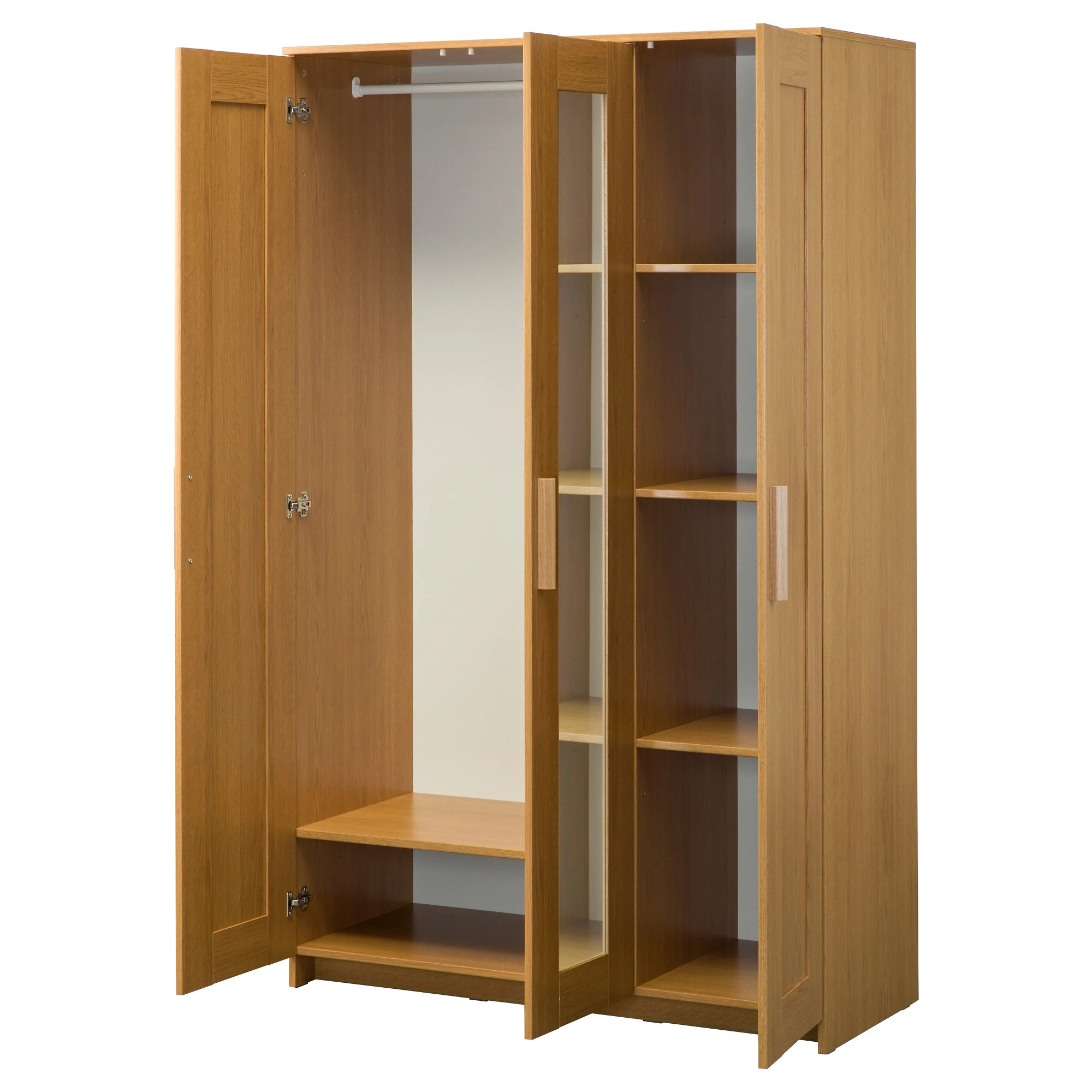 Le Meilleur Brimnes Wardrobe With 3 Doors Oak Effect Ikea Ce Mois Ci