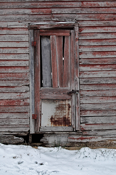 Le Meilleur Old Shack Door In Snow Lyon County Kentucky The Ce Mois Ci