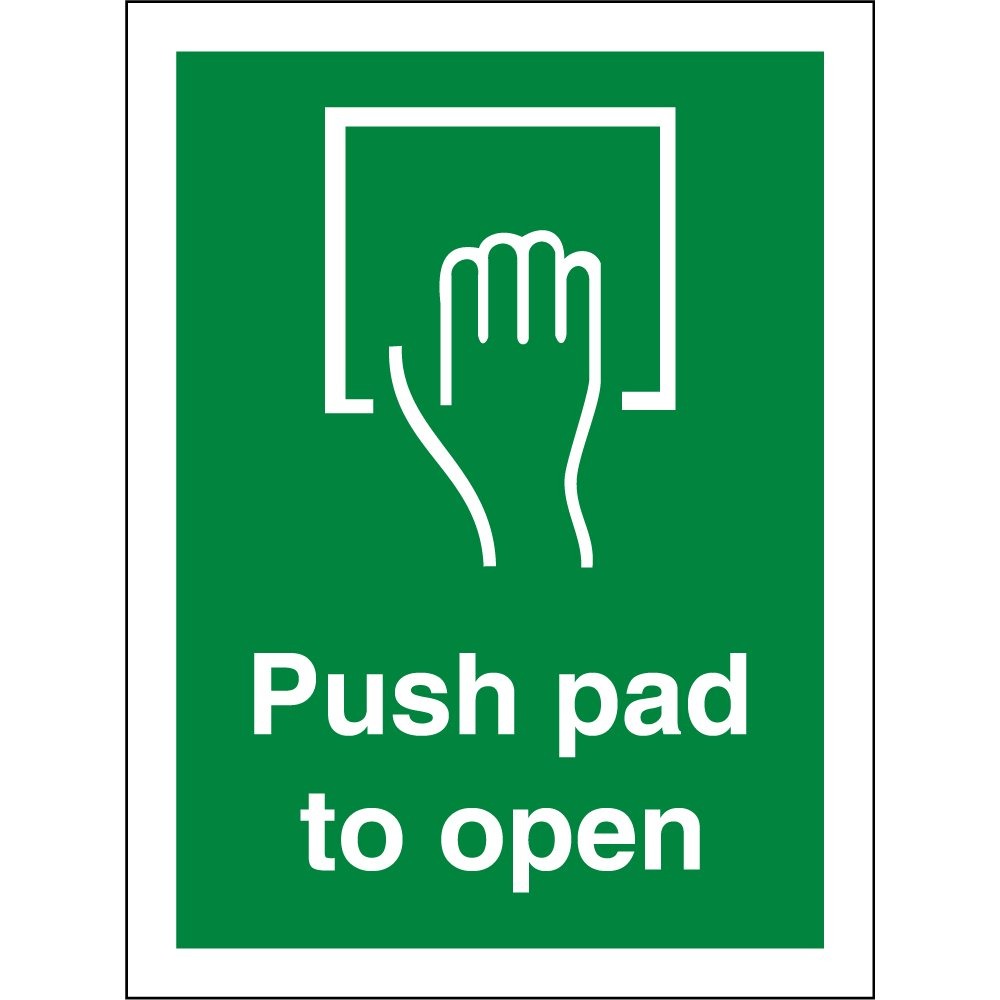 Le Meilleur Push Pad To Open Signs From Key Signs Uk Ce Mois Ci