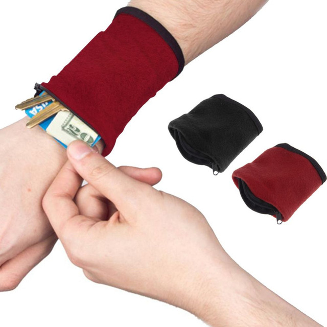 Le Meilleur Aliexpress Com Buy Zipper Fleece Wrist Wallet Pouch Arm Ce Mois Ci