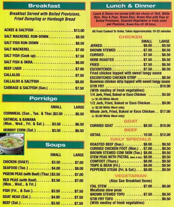 Le Meilleur The Door Menu Menu Restauracji The Door Jamaica New Ce Mois Ci