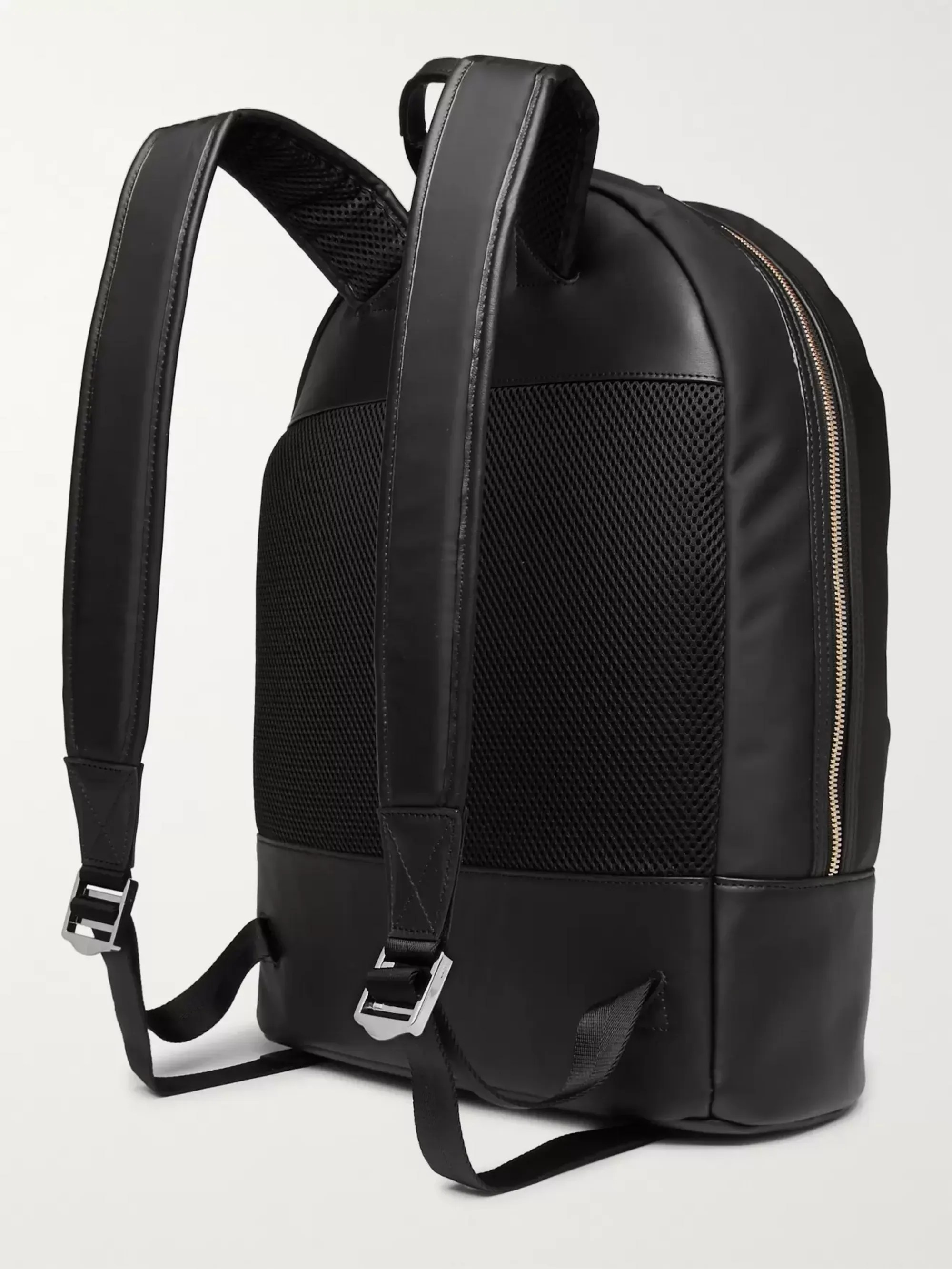 Le Meilleur Black Kastrup Leather Trimmed Shell Backpack Want Les Ce Mois Ci