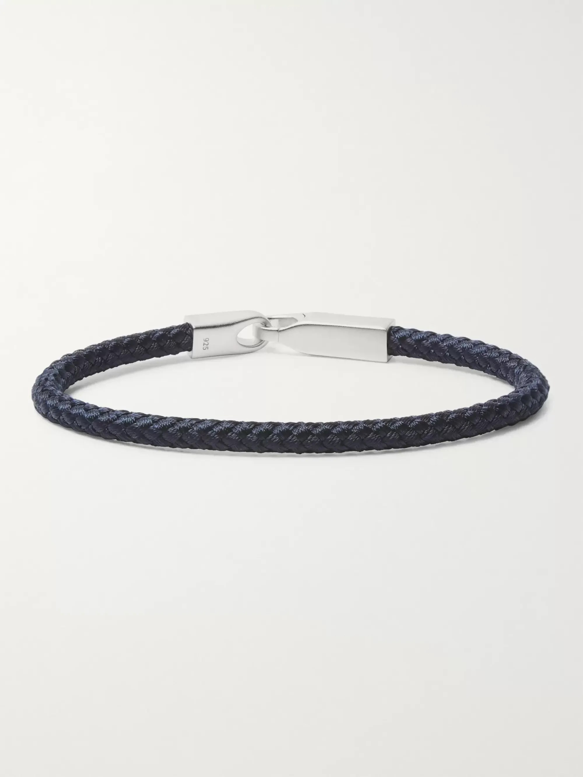 Le Meilleur Navy Sterling Silver And Cord Bracelet Miansai Mr Porter Ce Mois Ci