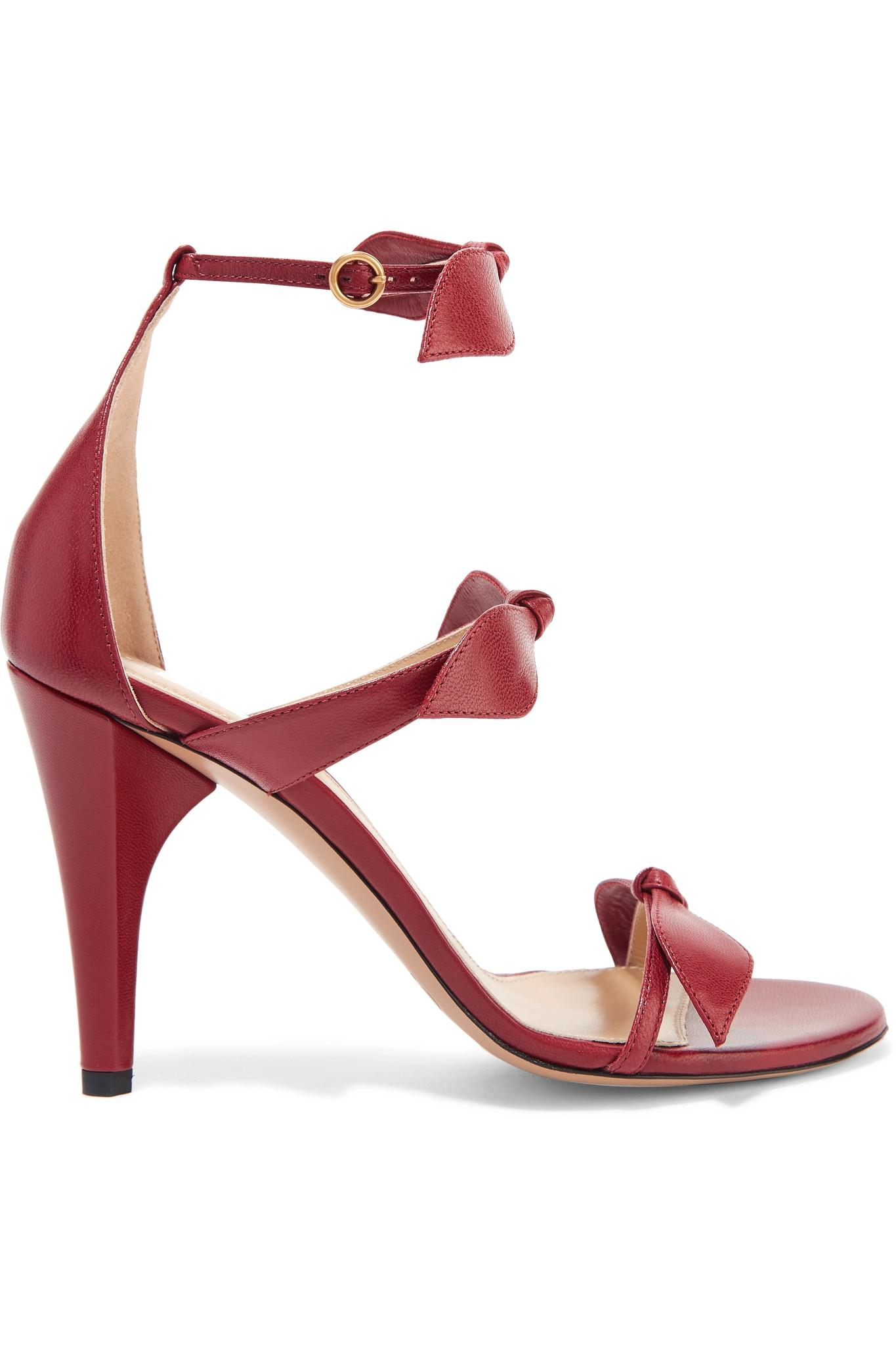 Le Meilleur Lyst Chloé Bow Embellished Leather Sandals Ce Mois Ci