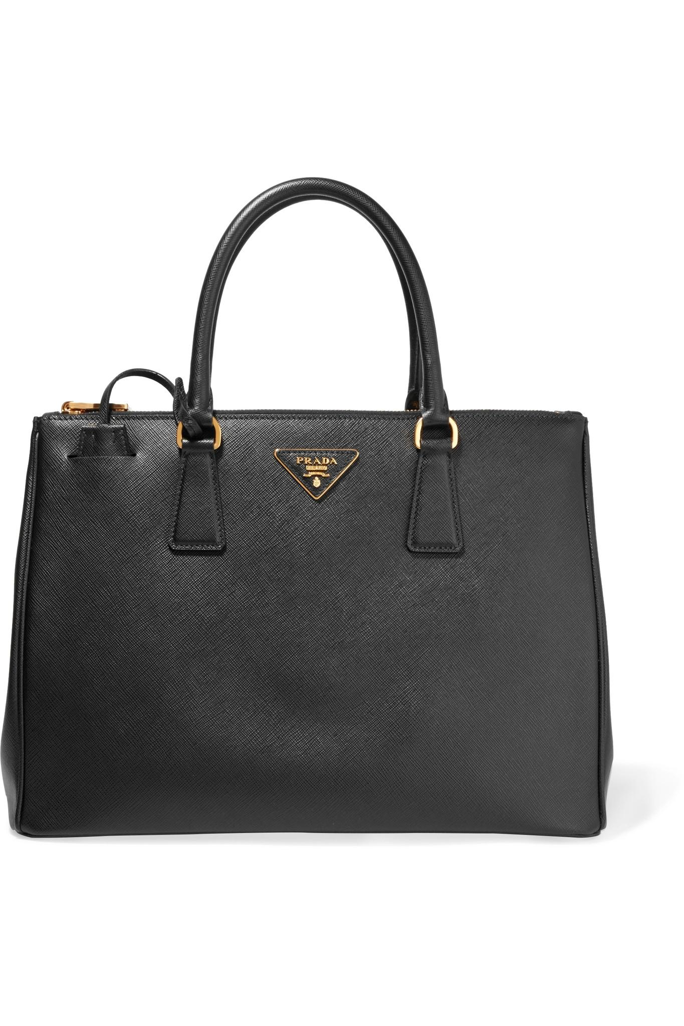 Le Meilleur Prada Galleria Large Textured Leather Tote In Black Lyst Ce Mois Ci