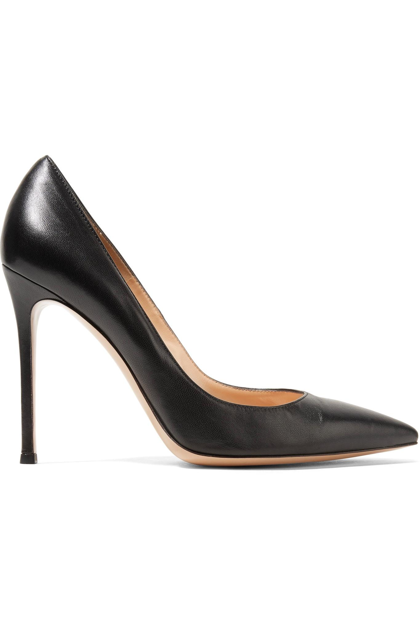 Le Meilleur Gianvito Rossi 105 Leather Court Shoes In Black Save 10 Ce Mois Ci