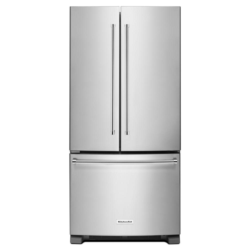 Le Meilleur Kitchenaid 33 In W 22 1 Cu Ft French Door Refrigerator Ce Mois Ci