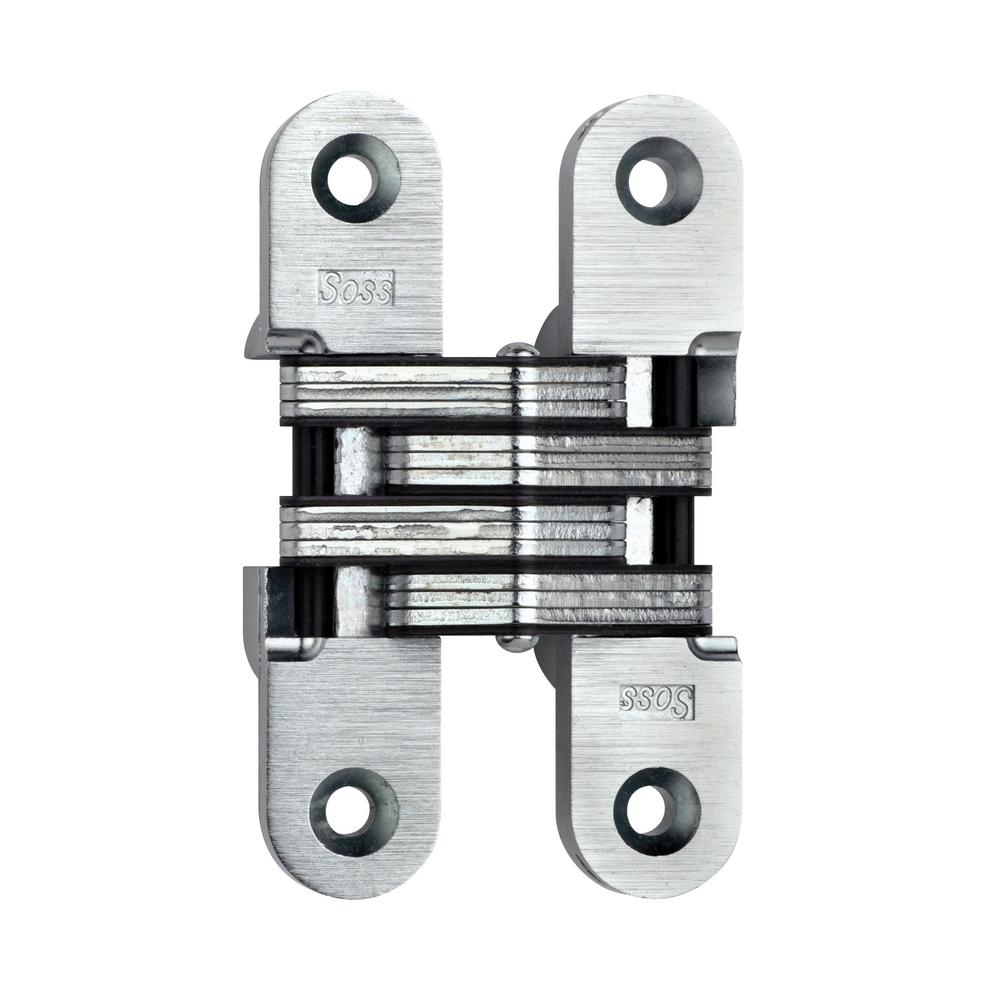 Le Meilleur Soss 1 In X 4 5 8 In Satin Chrome Invisible Hinge Ce Mois Ci
