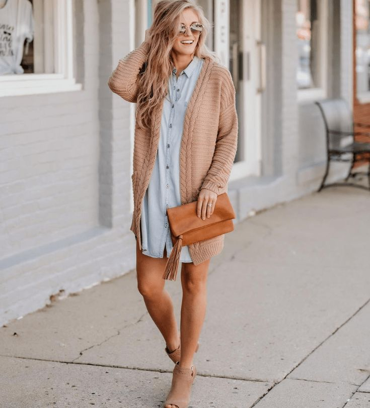 Le Meilleur Chambray Dress Outfit Ideas For Every Fashion Girl Fall Ce Mois Ci