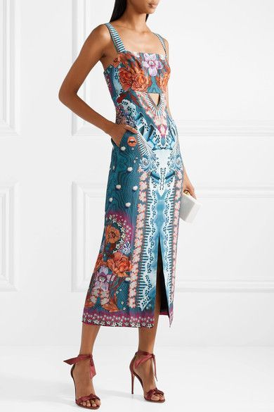 Le Meilleur Temperley London Pipe Dream Printed Crepe Midi Dress Ce Mois Ci