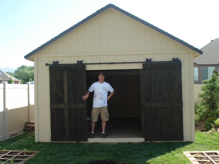 Le Meilleur Shed With Our Double Sliding Doors For Exterior Use You Ce Mois Ci