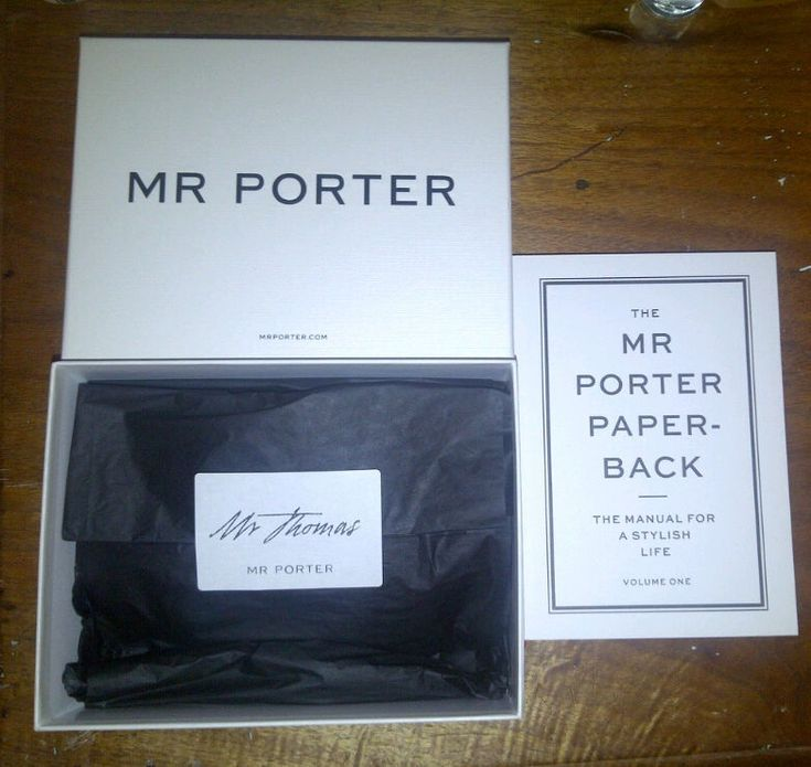 Le Meilleur Mr Porter Packaging Is Perfection Personalised Name On Ce Mois Ci