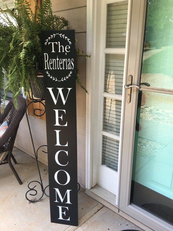 Le Meilleur Family Welcome Sign Front Door Welcome Sign Personalized Ce Mois Ci