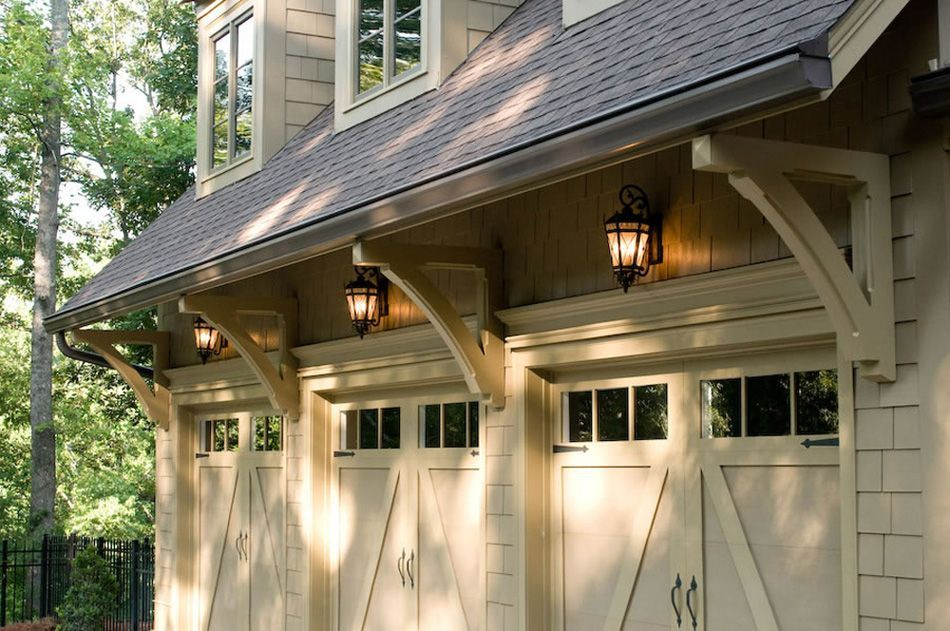 Le Meilleur Carriage Garage Doors With Glass Support Brackets Ce Mois Ci