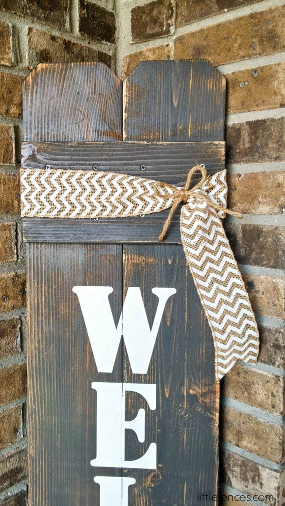 Le Meilleur Welcome Sign Rustic Wood Welcome Sign Front Door Welcome Ce Mois Ci