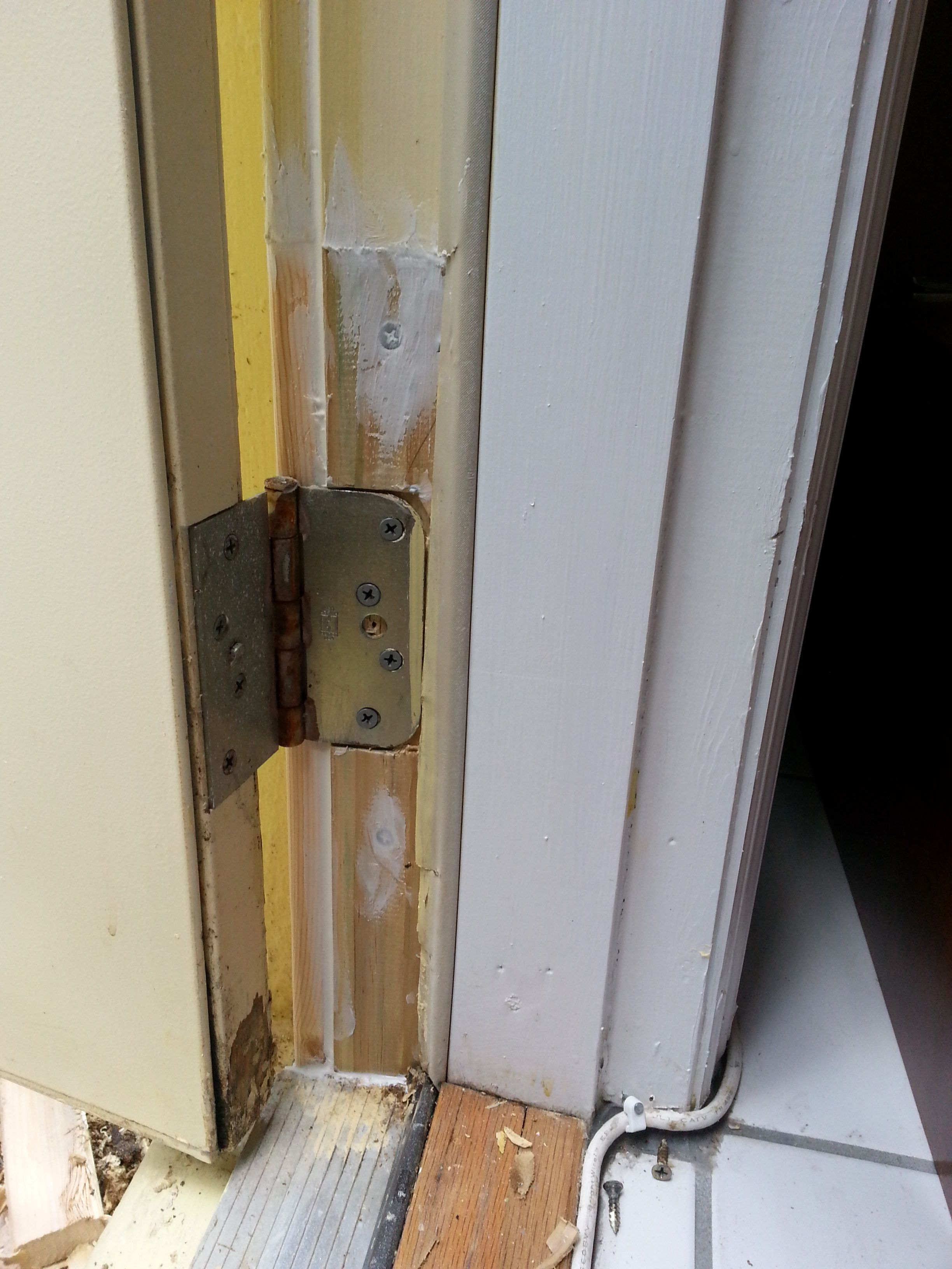 Le Meilleur After Repaired Damaged Door Jamb And Replaced The Rotted Ce Mois Ci