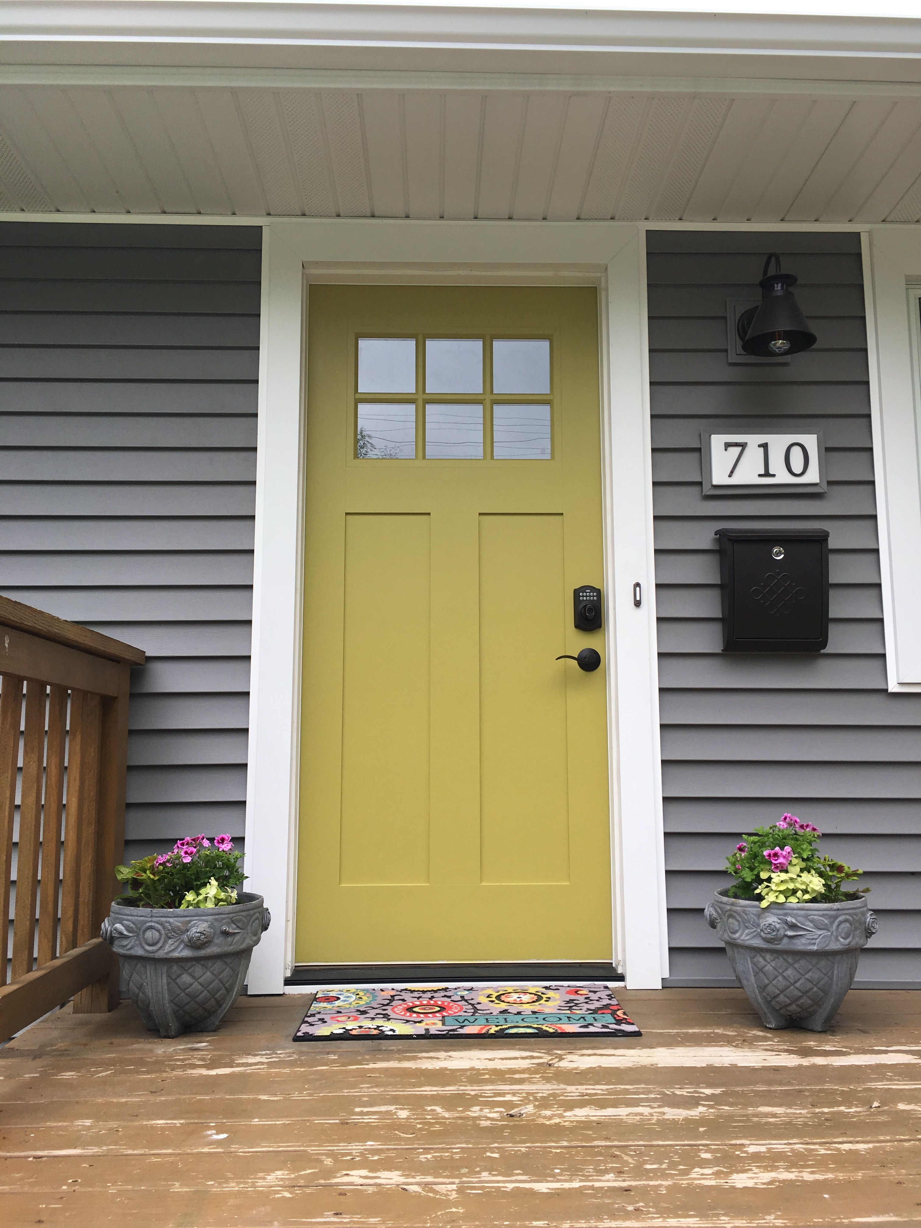 Le Meilleur Antiquity By Sherwin Williams Front Door With Charcoal Ce Mois Ci