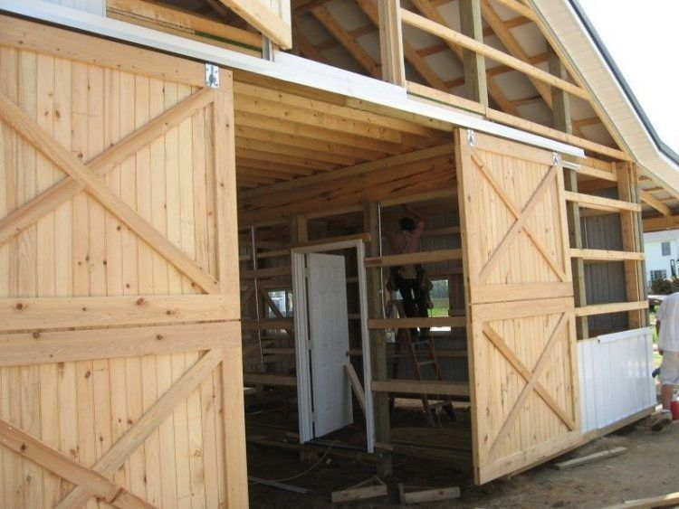Le Meilleur Large And Rustic Sliding Barn Door Design With Double Ce Mois Ci