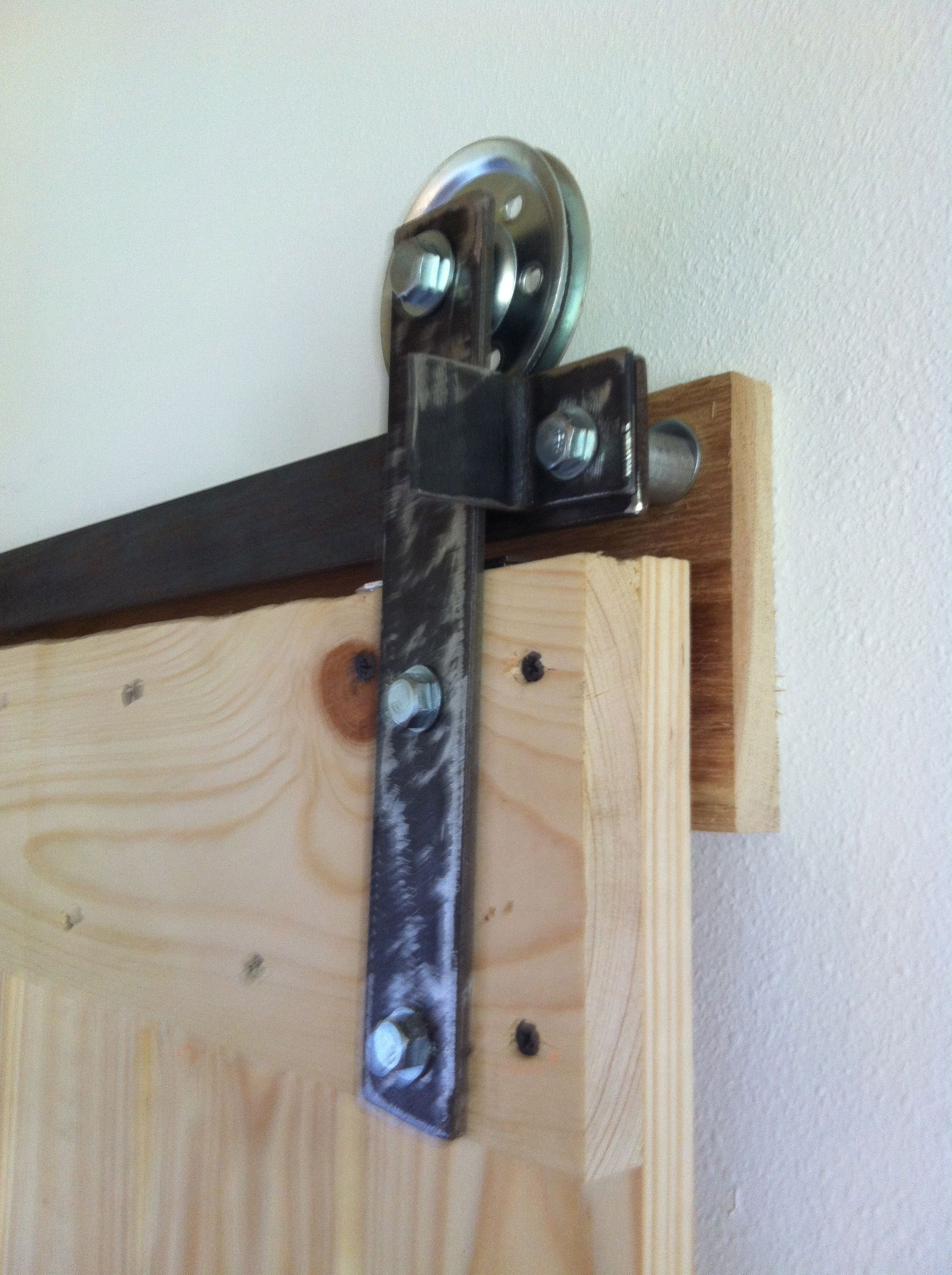 Le Meilleur Diy Barn Door Hardware Wheels Are From Home Depot And Ce Mois Ci