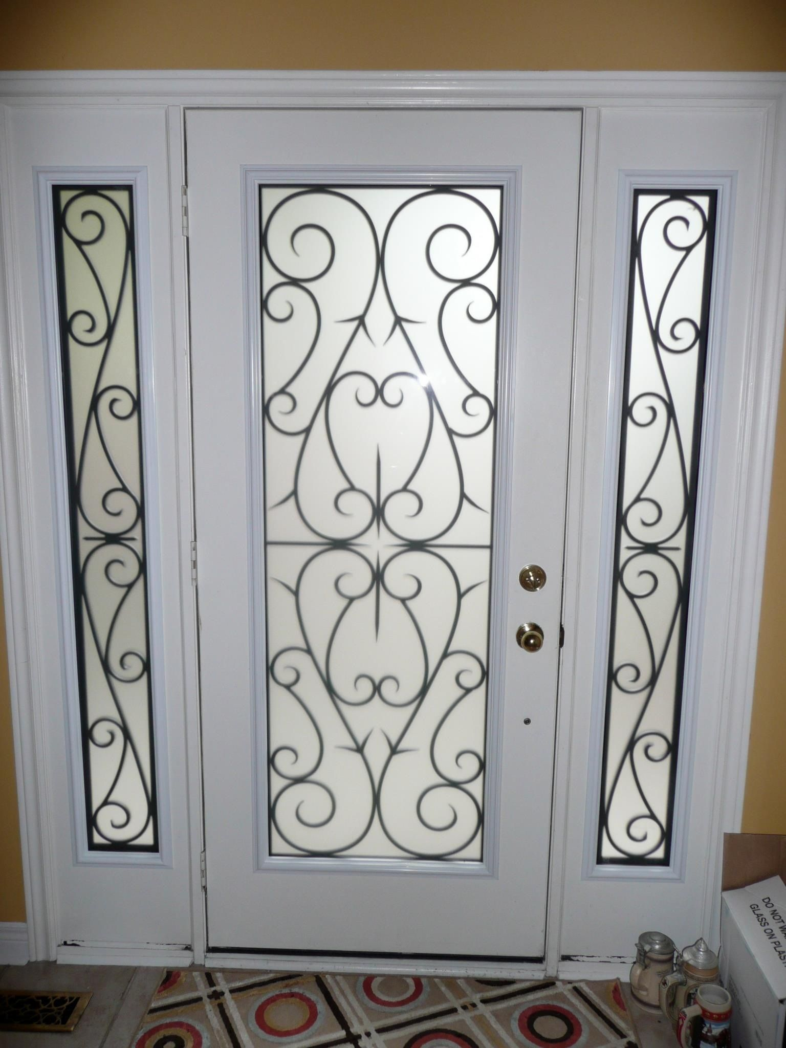 Le Meilleur Decorative Glass Inserts For Doors Wrought Iron Ce Mois Ci