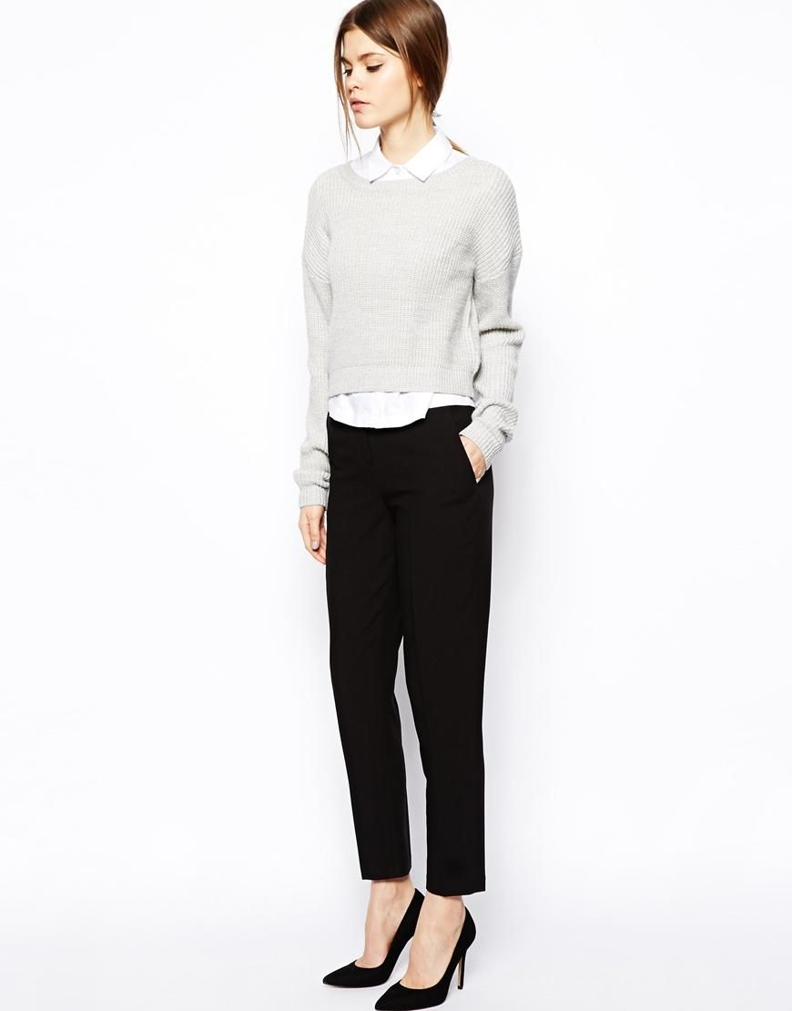 Le Meilleur Asos Asos Cigarette Pants In Crepe At Asos Trousers Ce Mois Ci