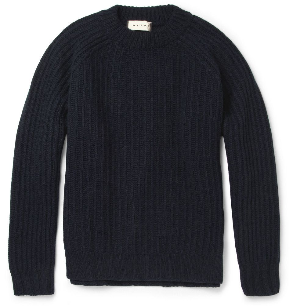 Le Meilleur Marni Boxy Ribbed Knit Wool Sweater Mr Porter The Man Ce Mois Ci