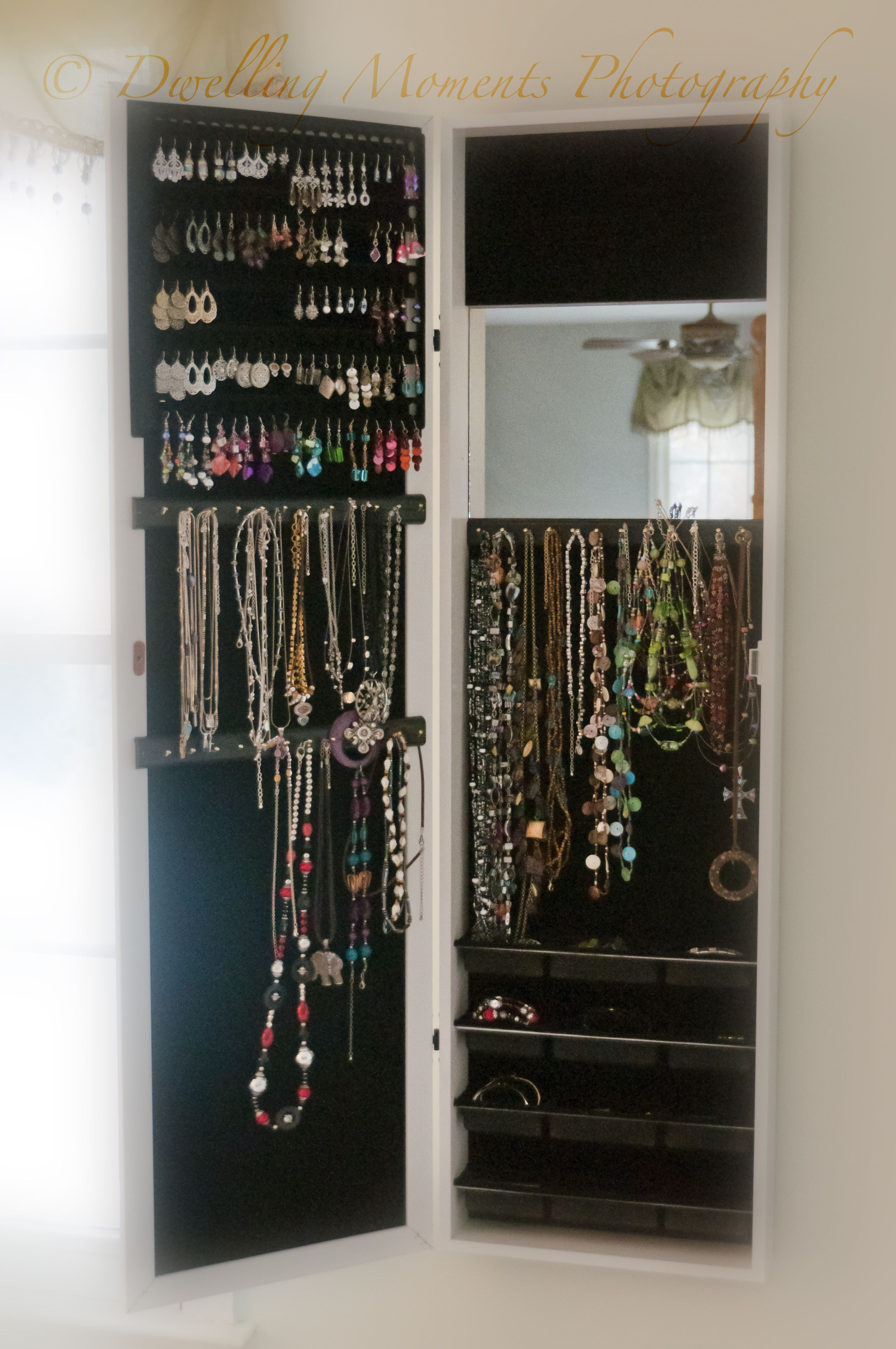 Le Meilleur Mirror Jewelry Armoire Cabinet Over Door Organizer Or Wall Ce Mois Ci