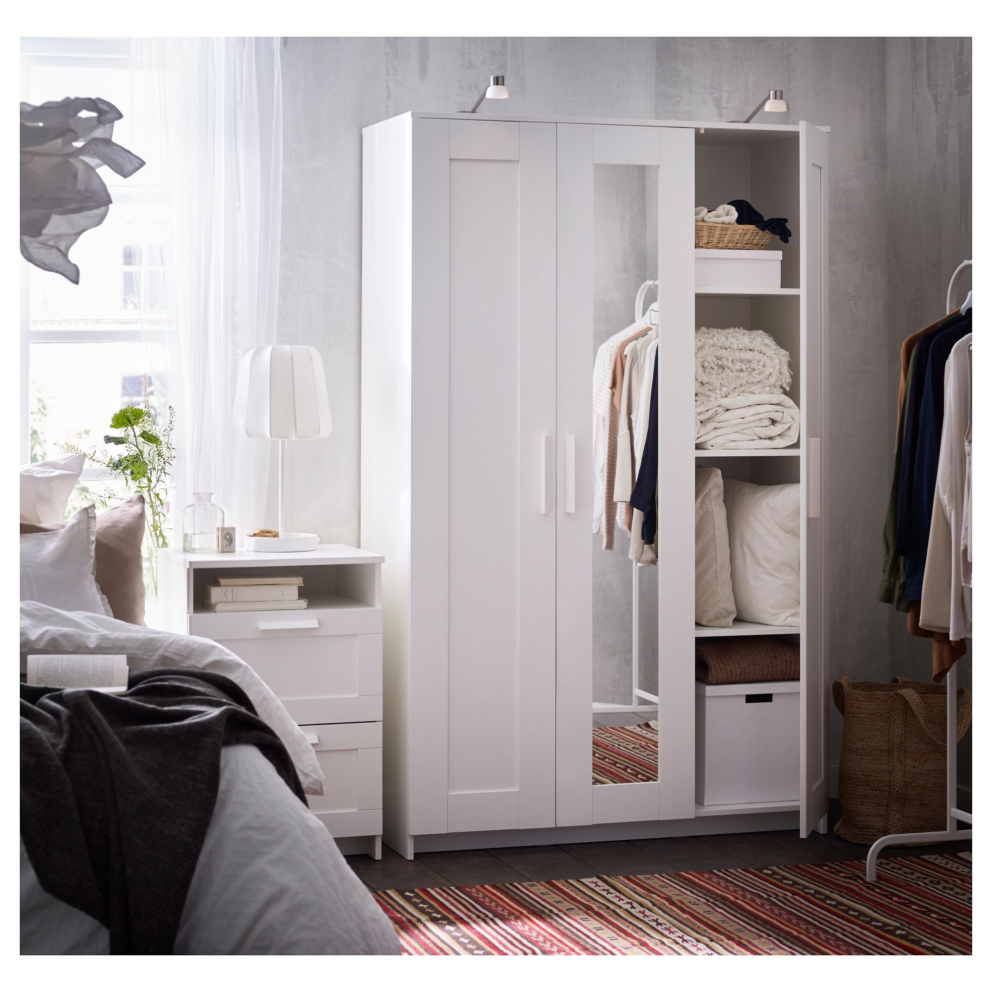 Le Meilleur Ikea Brimnes Wardrobe With 3 Doors White Products Ce Mois Ci