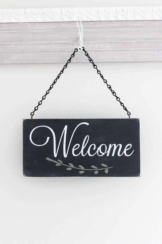 Le Meilleur Welcome Sign Hanging Door Sign Custom Sign Wall Art Ce Mois Ci