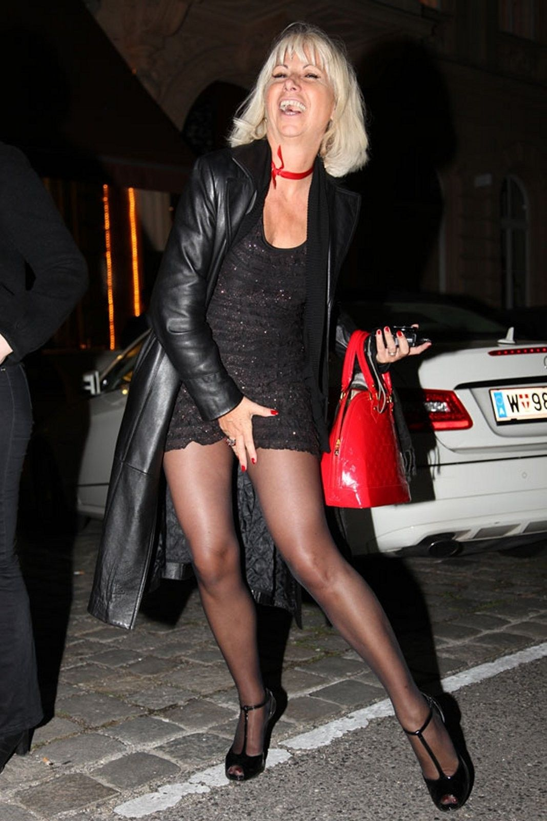 Le Meilleur Blonde Pantyhose M*T*R* S*Xy Legs Black Tights Black Ce Mois Ci