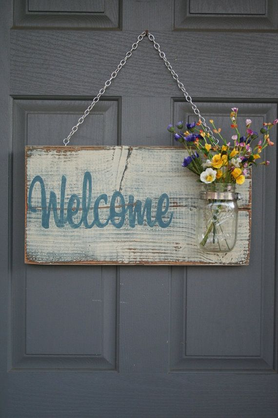 Le Meilleur Front Door Sign Rustic Welcome Sign Welcome Guests Sign Ce Mois Ci