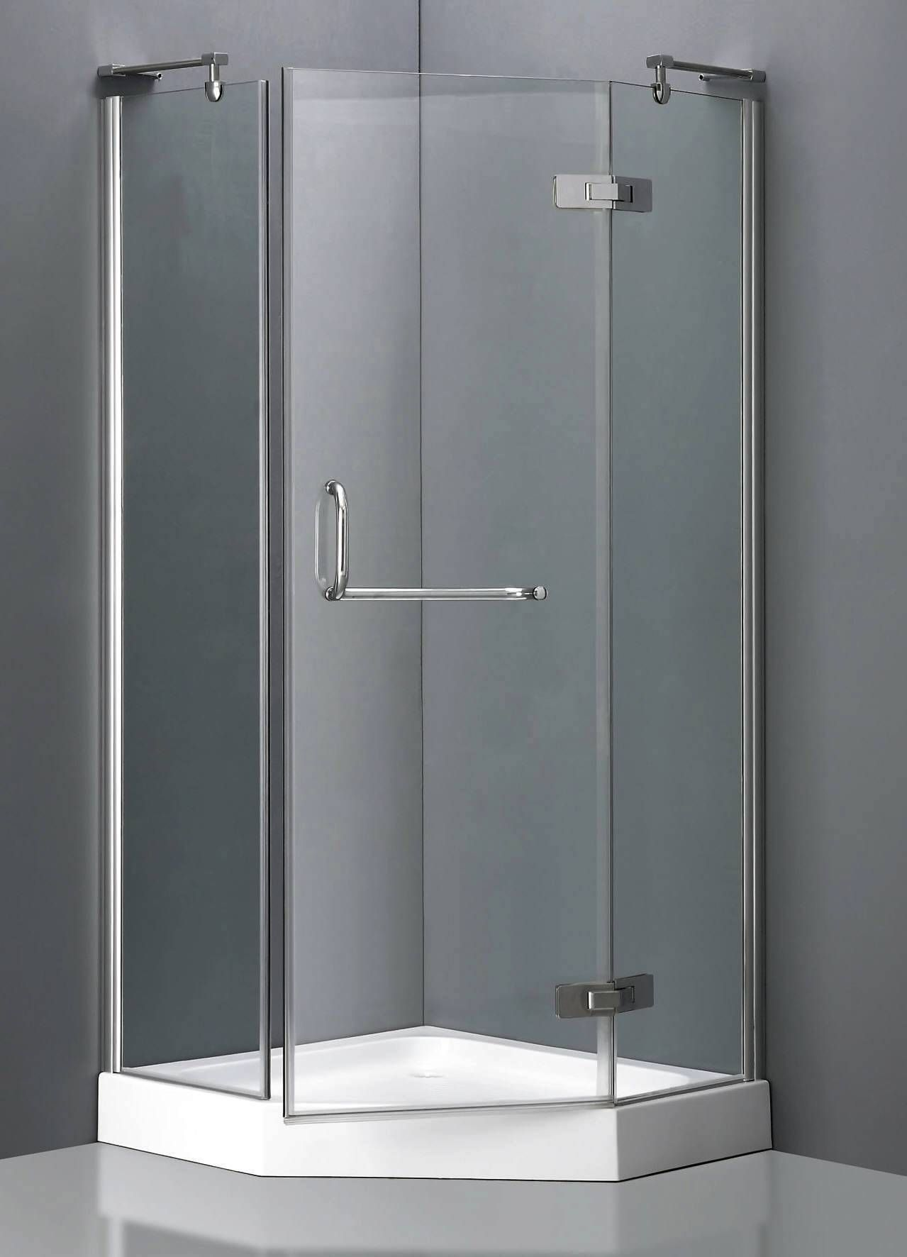 Le Meilleur Corner Shower Units With Stylish Grass Door And Stainless Ce Mois Ci