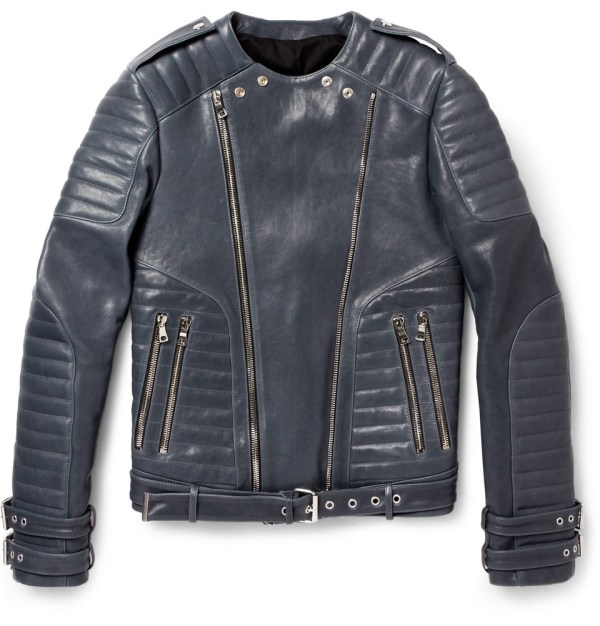 Le Meilleur Balmain Leather Biker Jacket Por Homme Contemporary Ce Mois Ci