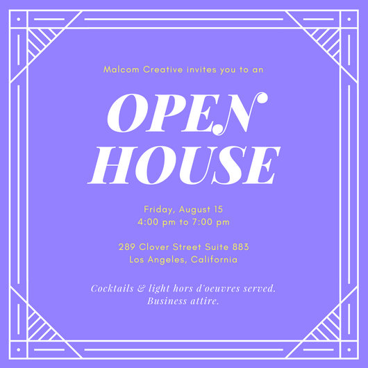 Le Meilleur Purple And Yellow Open House Invitation Templates By Canva Ce Mois Ci