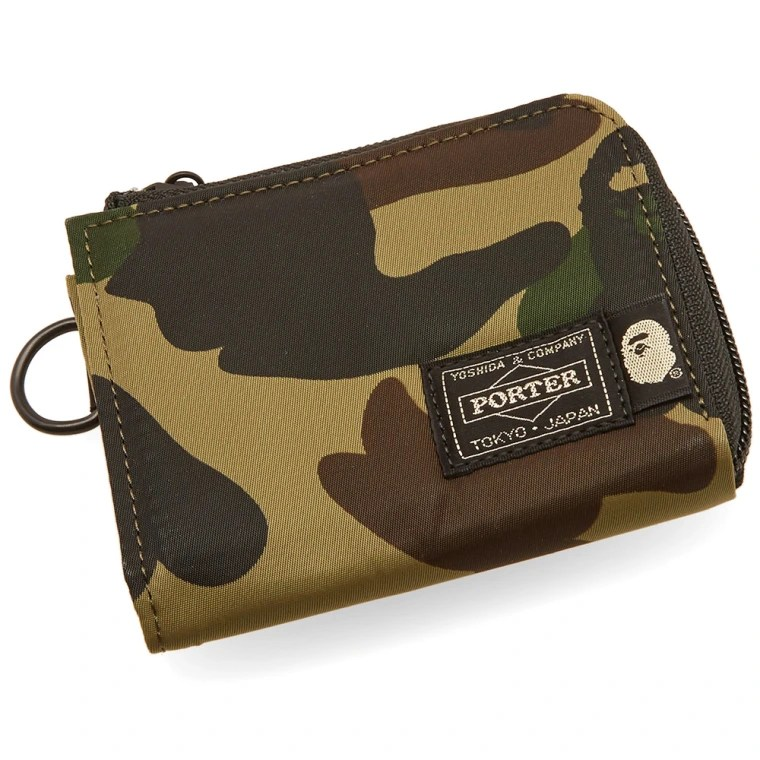 Le Meilleur A Bathing Ape X Porter 1St Camo Mini Wallet Green End Ce Mois Ci