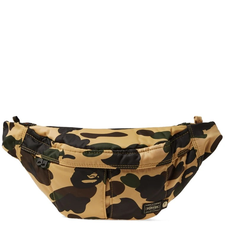 Le Meilleur A Bathing Ape X Porter 1St Camo Waist Bag Yellow End Ce Mois Ci