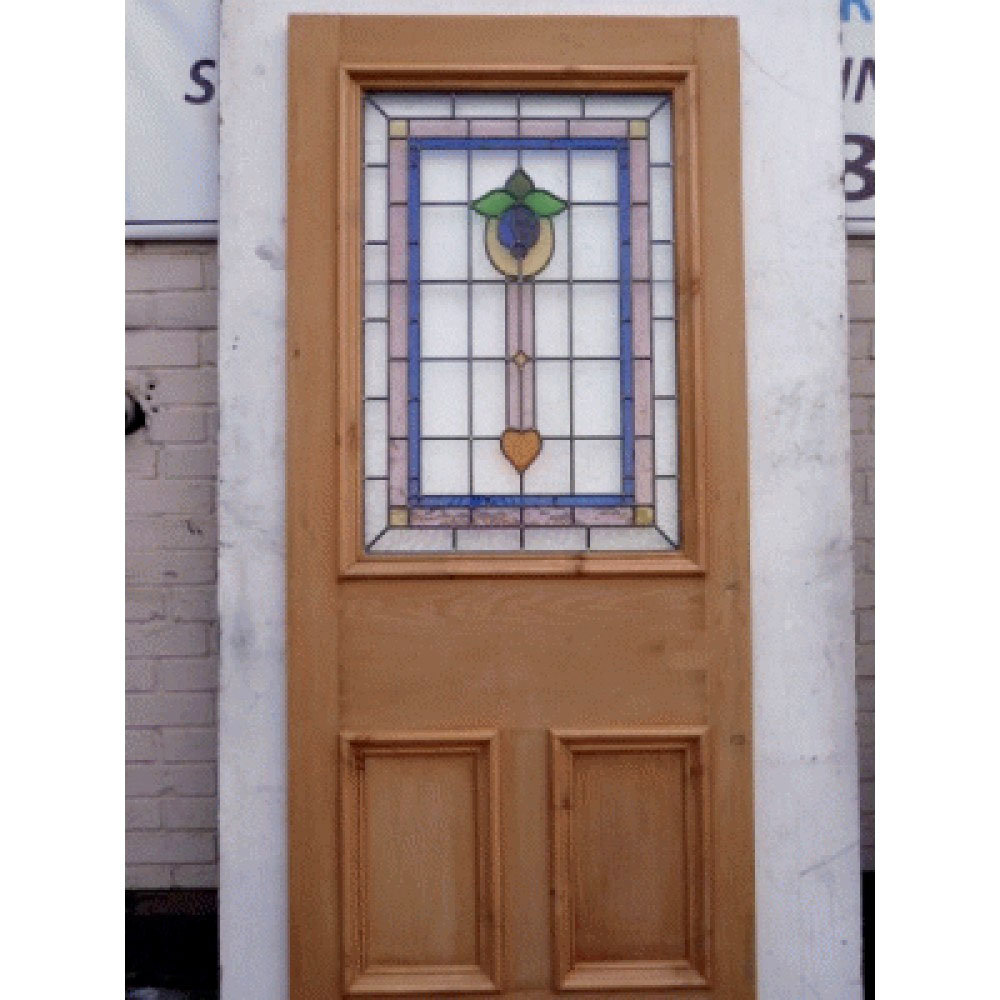 Le Meilleur 3 Panel Bell Stained Glass Door Period Home Style Ce Mois Ci