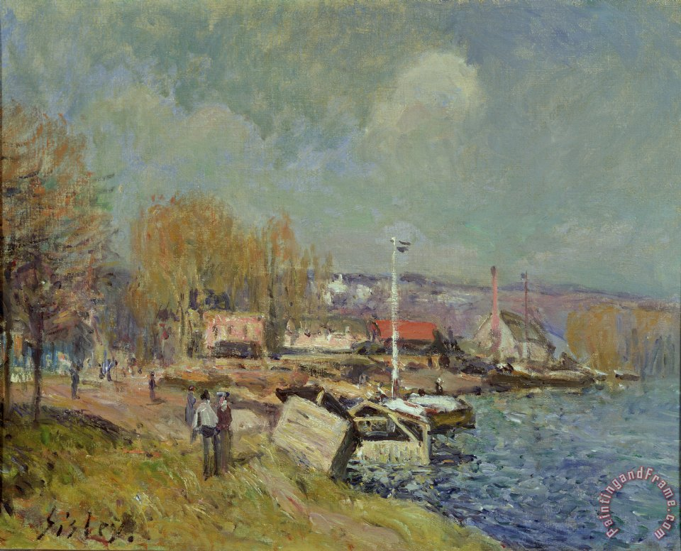 Le Meilleur Alfred Sisley The Seine At Port Marly Painting The Seine Ce Mois Ci