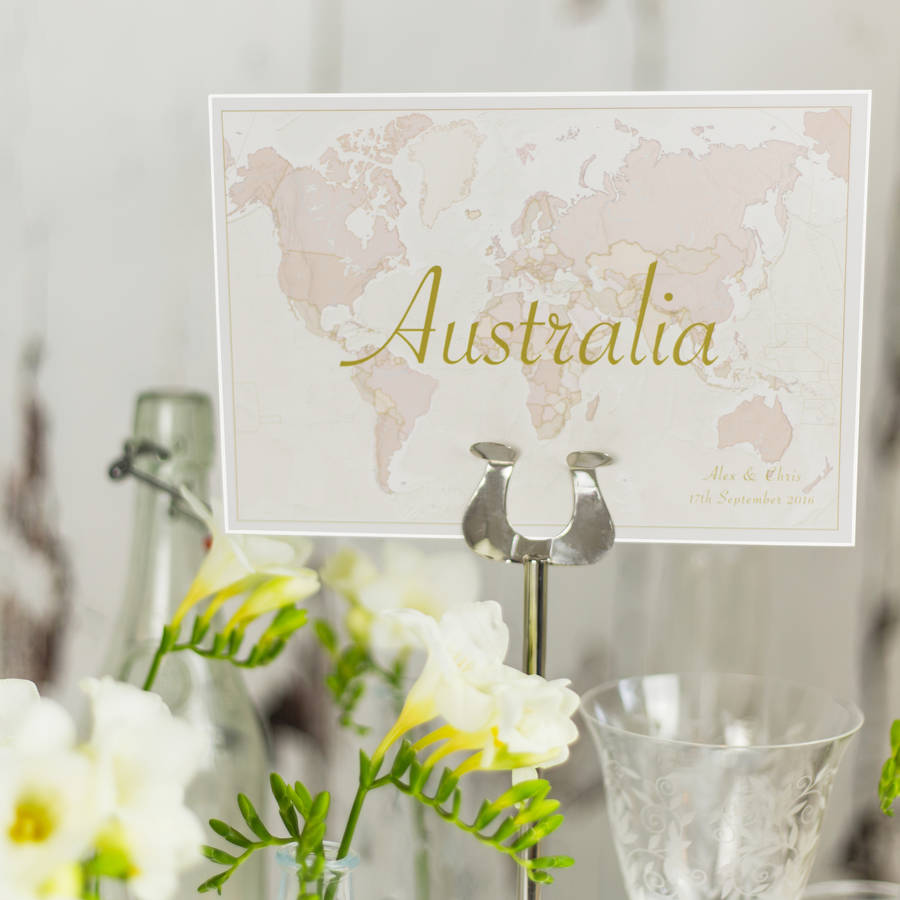 Le Meilleur Antique World Countries Wedding Table Name Cards By Maps Ce Mois Ci