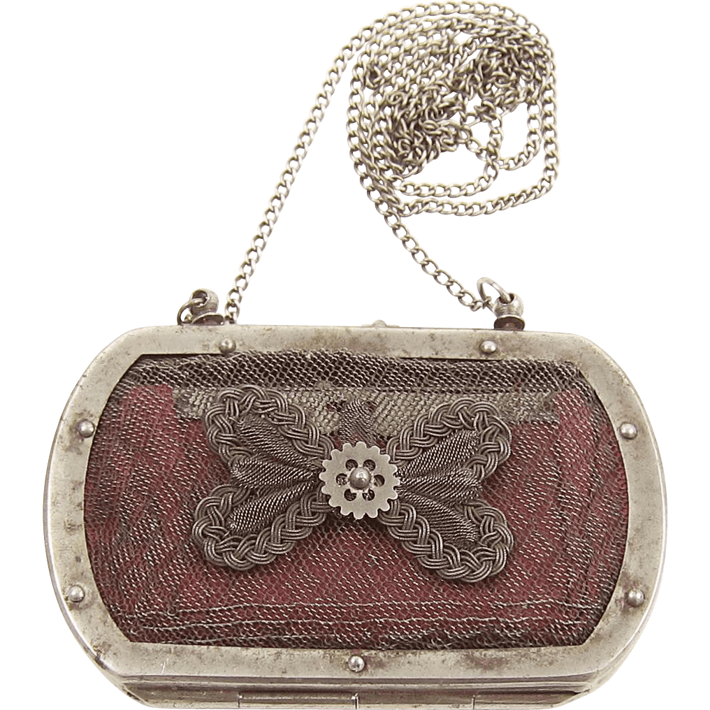 Le Meilleur French Silesian Wirework Coin Purse Early 19Th Century Ce Mois Ci