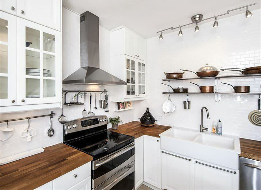Le Meilleur 26 Small Kitchens With White Cabinets Designing Idea Ce Mois Ci