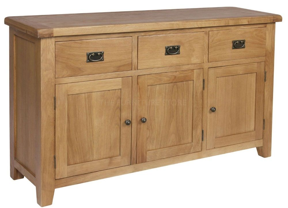 Le Meilleur Hereford Oak Sideboard 3 Doors 3 Drawers Ce Mois Ci