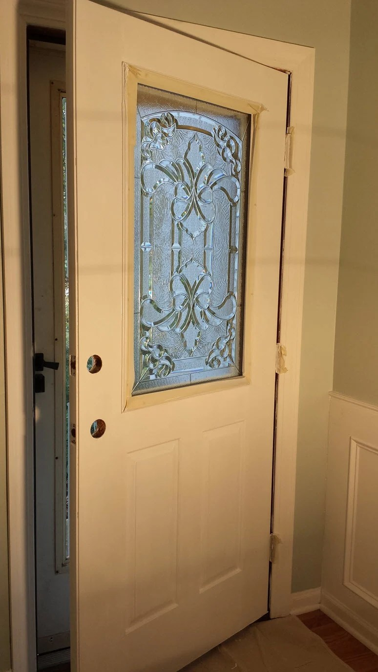 Le Meilleur How To Add A Decorative Glass Window To A Fiberglass Door Ce Mois Ci