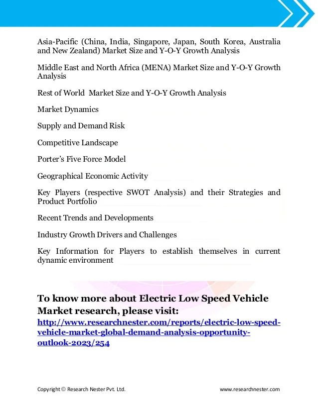 Le Meilleur Global Electric Low Speed Vehicle Lsv Market Analysis Ce Mois Ci