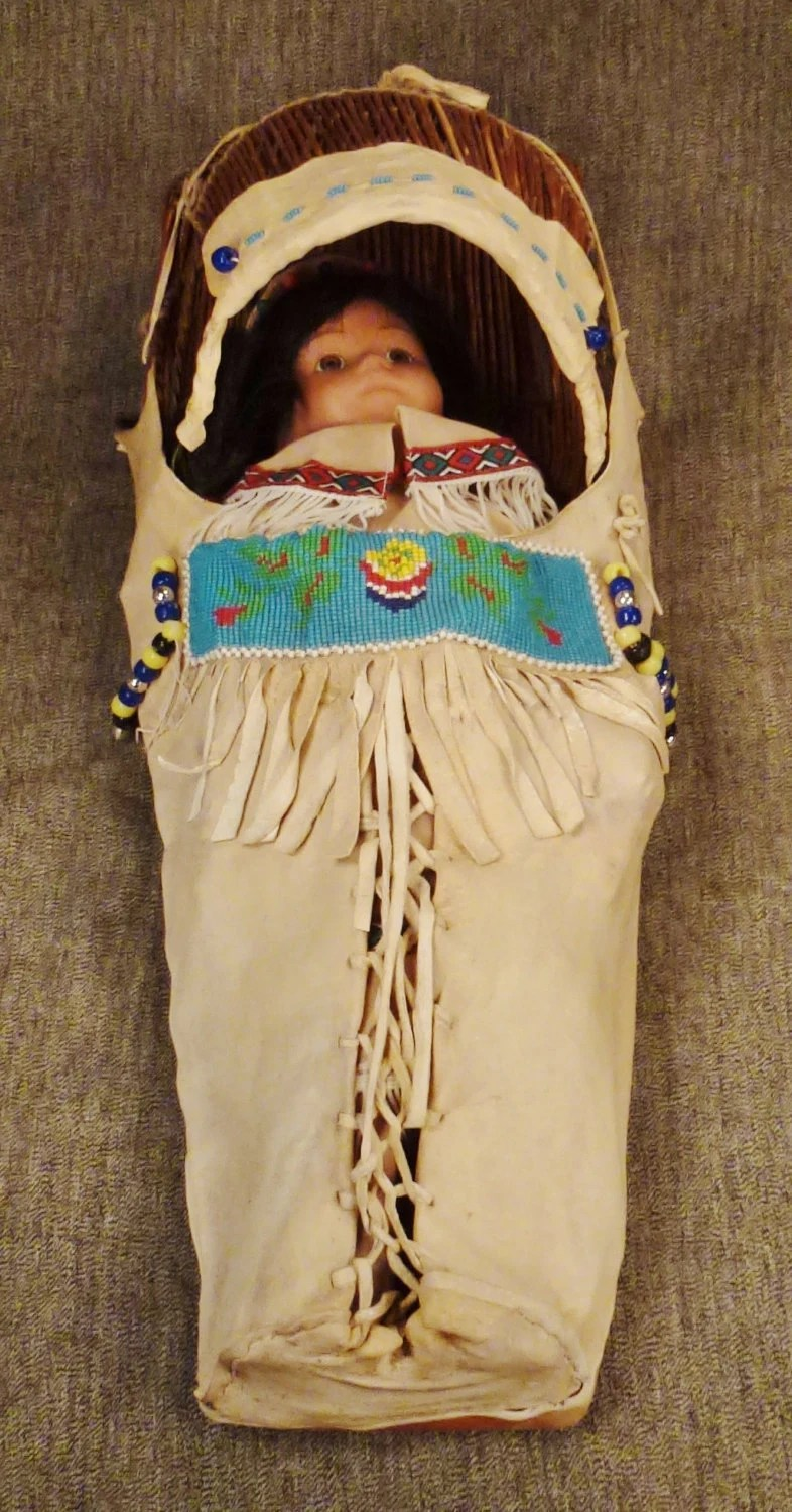 Le Meilleur Native American Cradleboard Papoose Plains Indian Baby Doll Ce Mois Ci