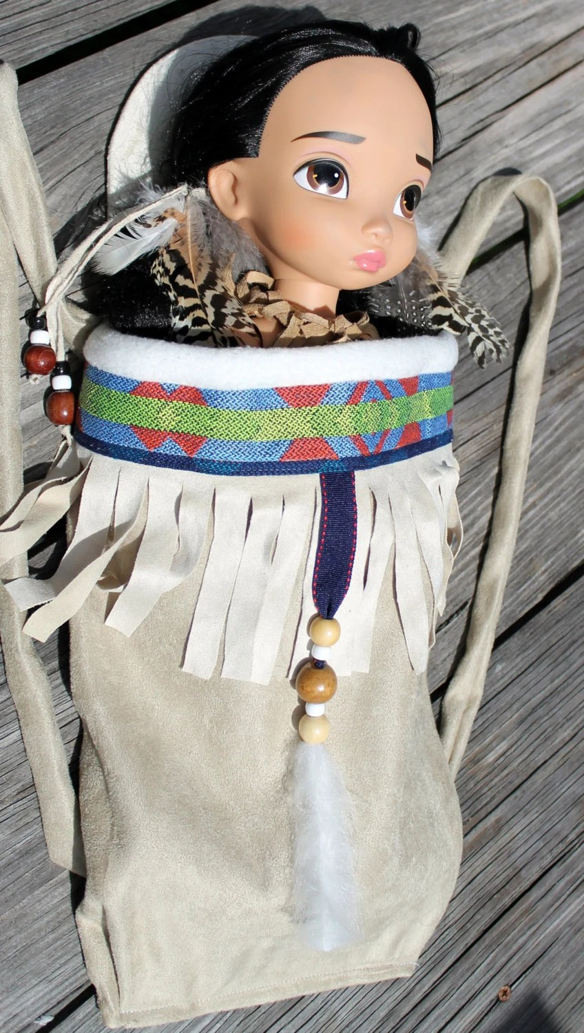 Le Meilleur Native American Girl Indian Papoose Baby Doll Carrier Fits 18 Ce Mois Ci