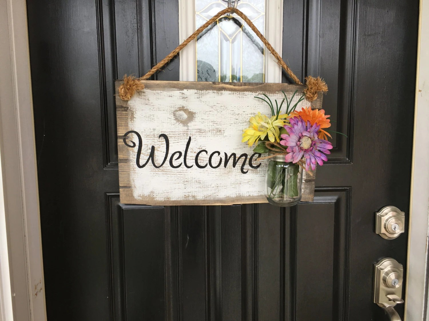 Le Meilleur Front Door Welcome Sign Front Porch Welcome Sign Rustic Ce Mois Ci